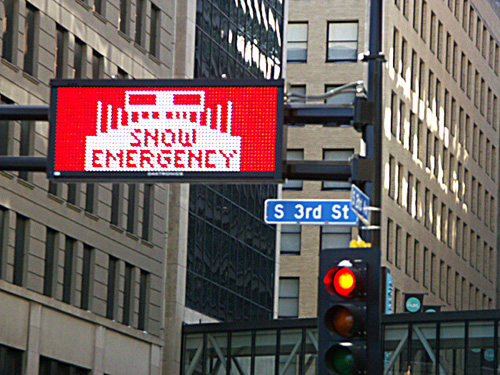 City of Minneapolis Snow Warning