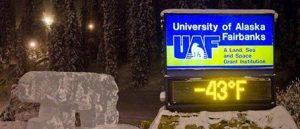 University of Alaska's LED Sign