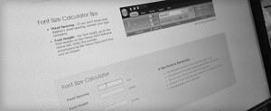 Daktronics Font Calculator web page