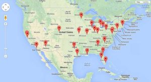 Daktronics NFL installations map