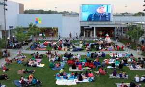 Families enjoy Despicable Me at Oakbrook Center, an Illinois mega mall.