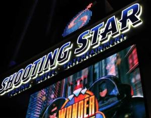 Night shot of Shooting Star Casino by Dan Combs.