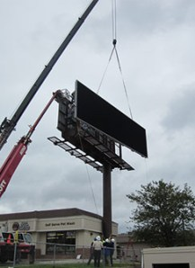Digital billboard installation site photo