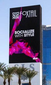 SLS Casino LED marquee