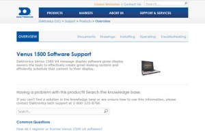 1.Venus 1500 software support site
