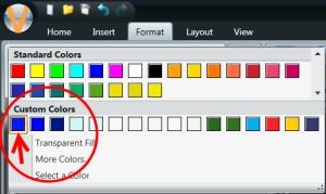 Custom Colors section