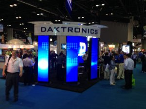 Daktronics booth, ISA Expo 2014