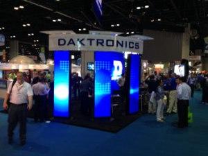 Daktronics booth, ISA Expo 2014