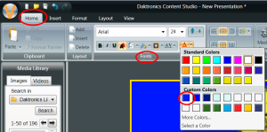 Fonts Color section