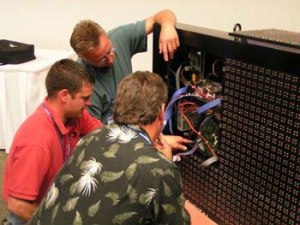 Daktronics technical training is hands on.