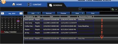 Reorder schedule