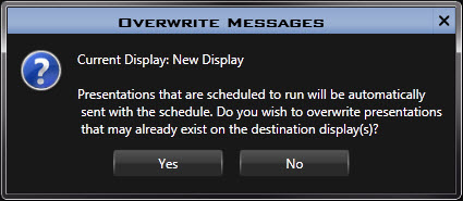 Overwrite Messages Prompt