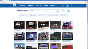 Daktronics Photo Gallery landing page
