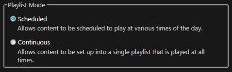 schedule mode