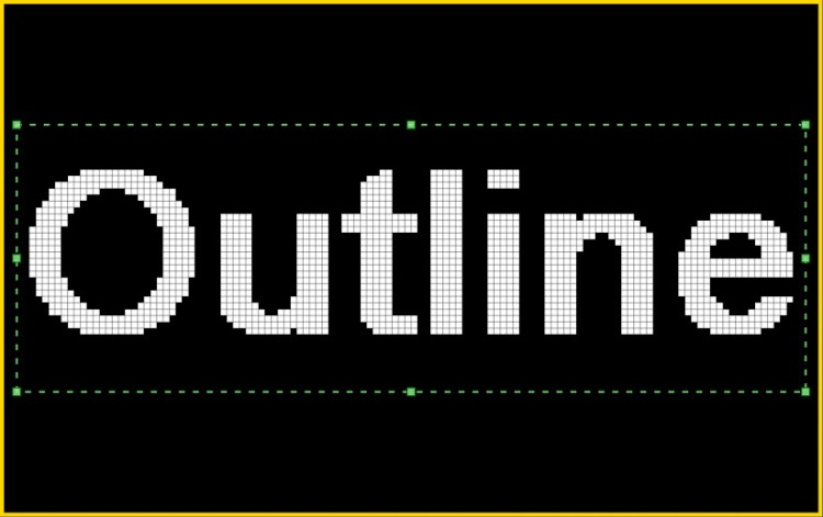 Outline text box