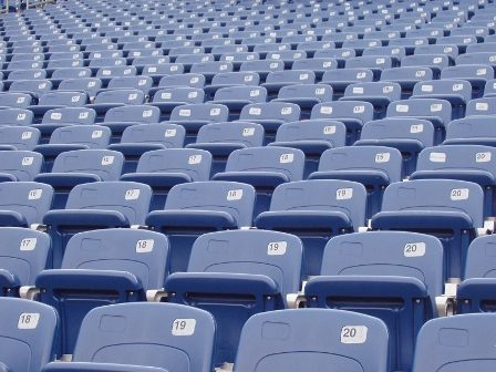 blue empty seats
