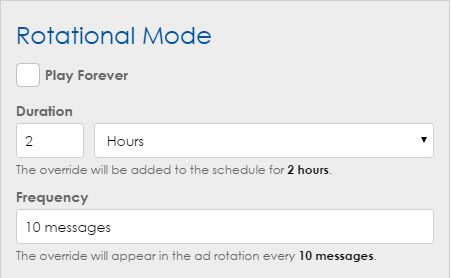 Rotational mode