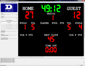 "The DSTI software ""View Data"" tab shows the All Sport information."