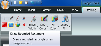 Drawing Rounded Rectangle
