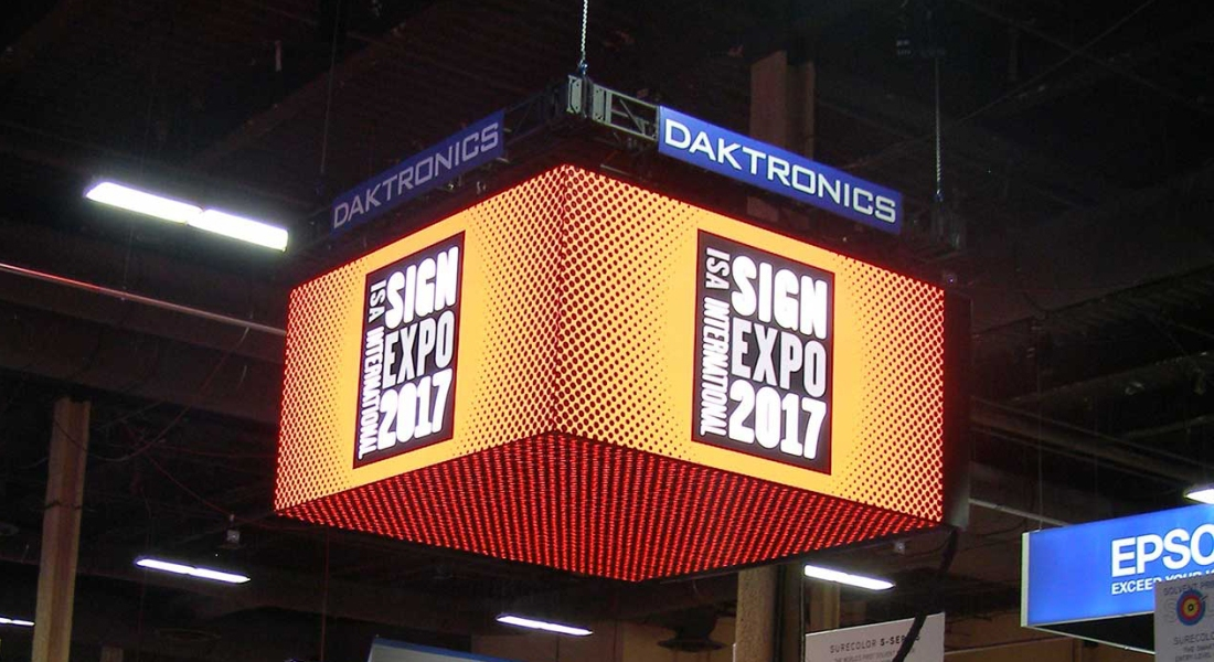 Digital Signs A Significant Presence At Record Breaking ISA Sign Expo 2017 Daktronics