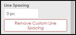 Line spacing 2
