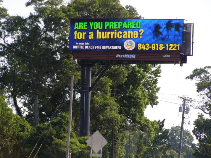 digital billboard hurricane