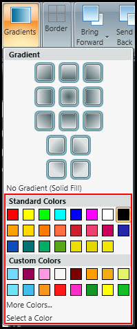 Choose gradient color