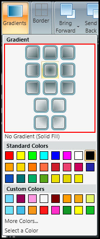 Choose gradient orientation