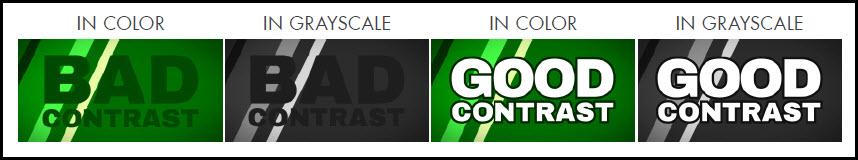 Good vs bad contrast