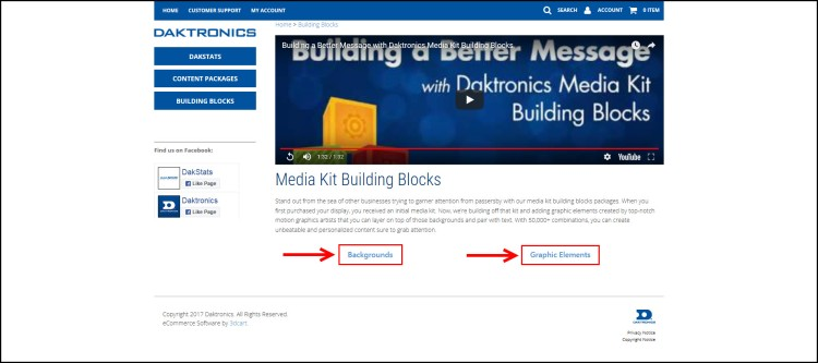 Media Kit Building Blocks