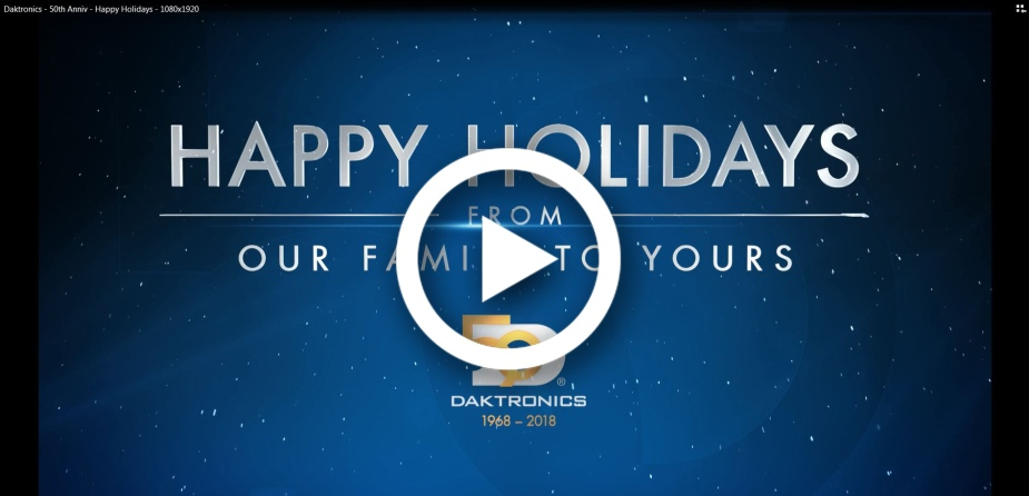 Happy Holidays with play button