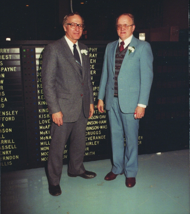 1970_Utah Legislature_First Electronic Voting System_Founders Al K and Duane S - Option 1