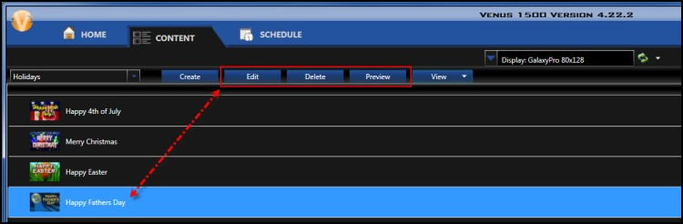 Edit Delete Preview highlighted