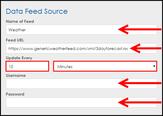 Data Feed Source