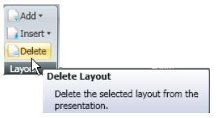 Delete Layout