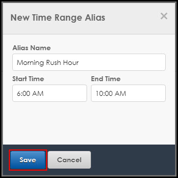New Time Range Alias