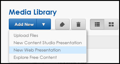New Web Presentation