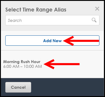 Select Time Range Alias