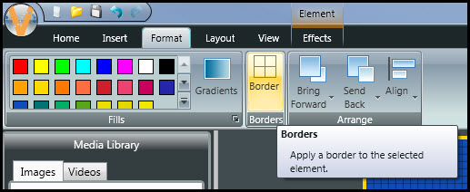 Borders Button
