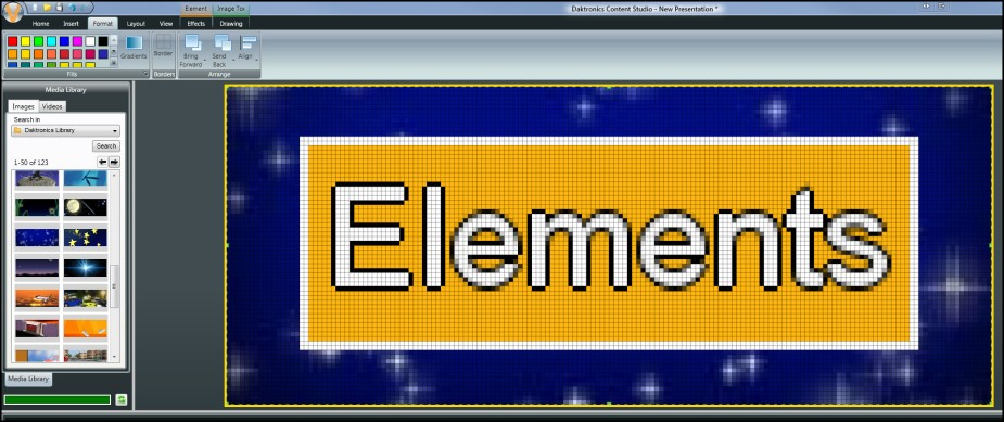 Element in front