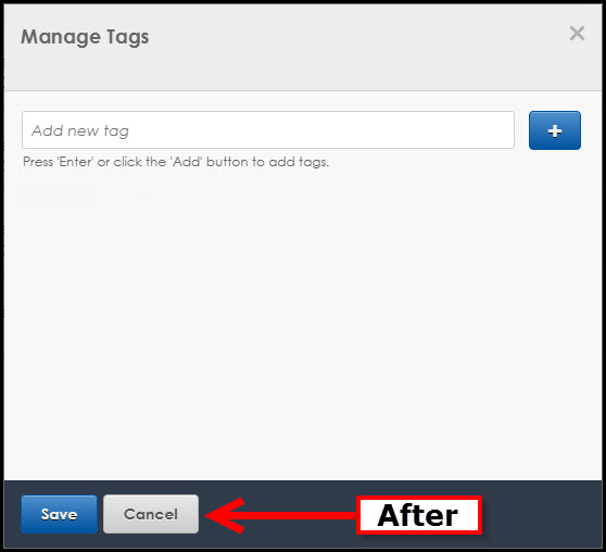 Manage Tags After