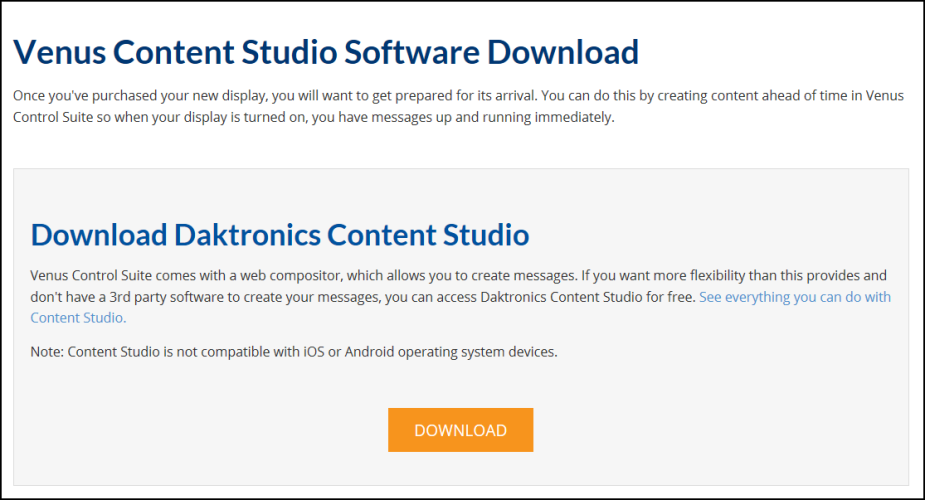 Download Content Studio