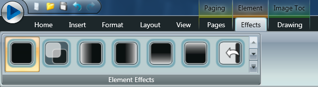 Effects tab