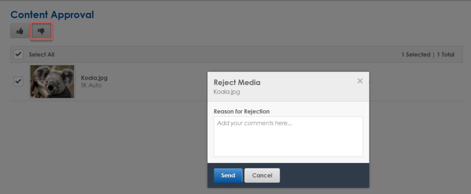 Reject media