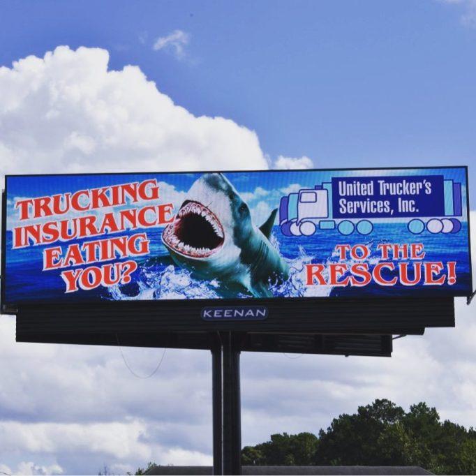 Digital Shark Billboard