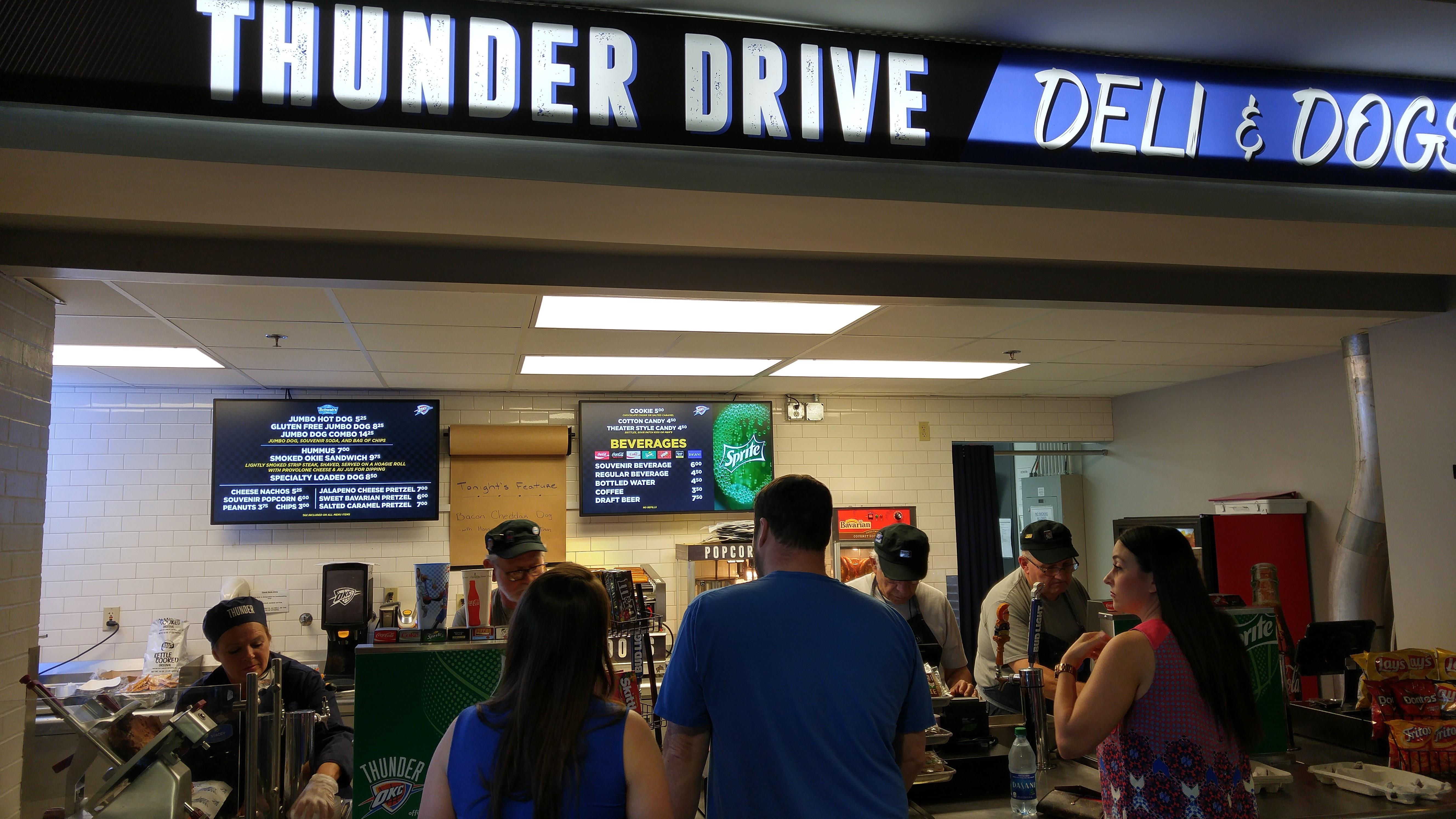 ADFLOW_Chesapeake Thunder Drive Menus